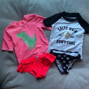 Carter's Swimsuits - Toddler Girl (Set of 2)